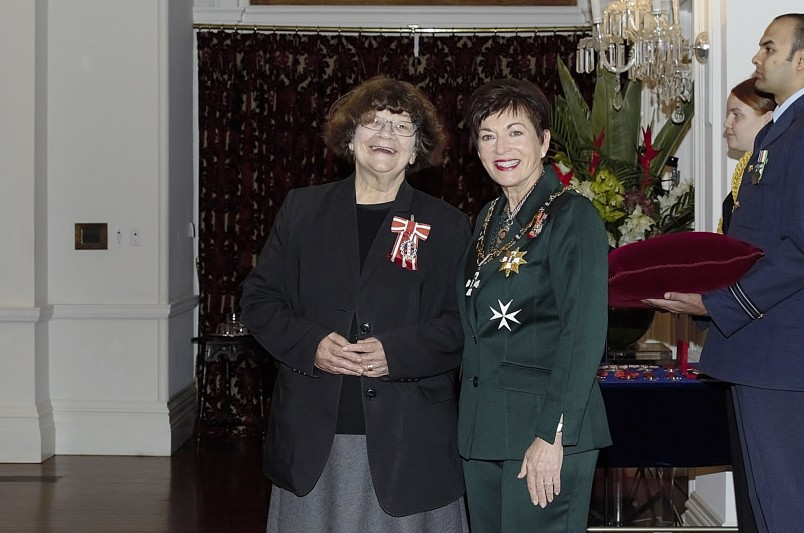 Image of Joy Cowley and Dame Patsy Reddy