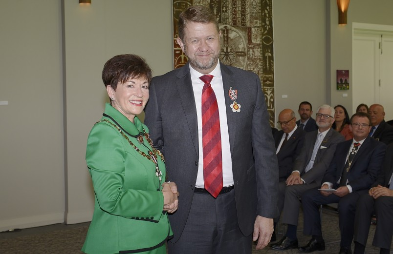 Image of David Cunliffe and Dame Patsy Reddy