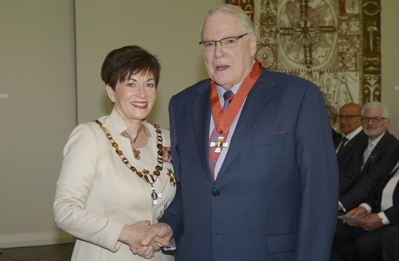 Image of Dr Michael Bassett and Dame Patsy Reddy