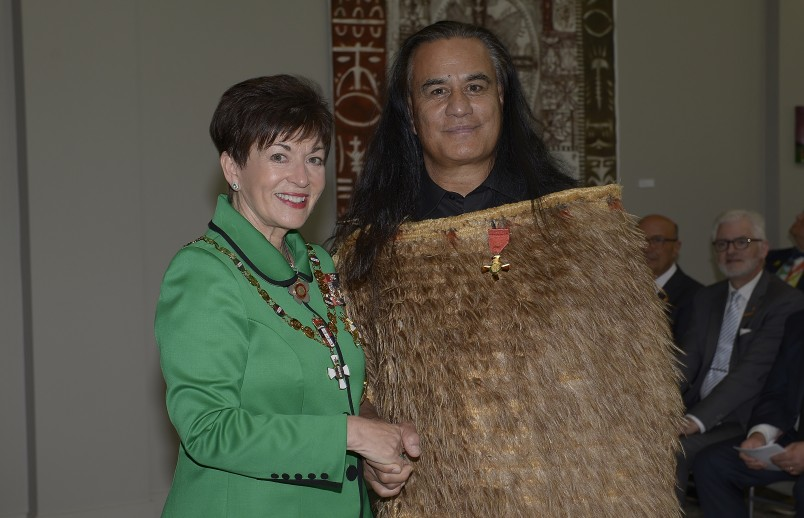 Image of Wetini Mitai-Ngatai and Dame Patsy Reddy