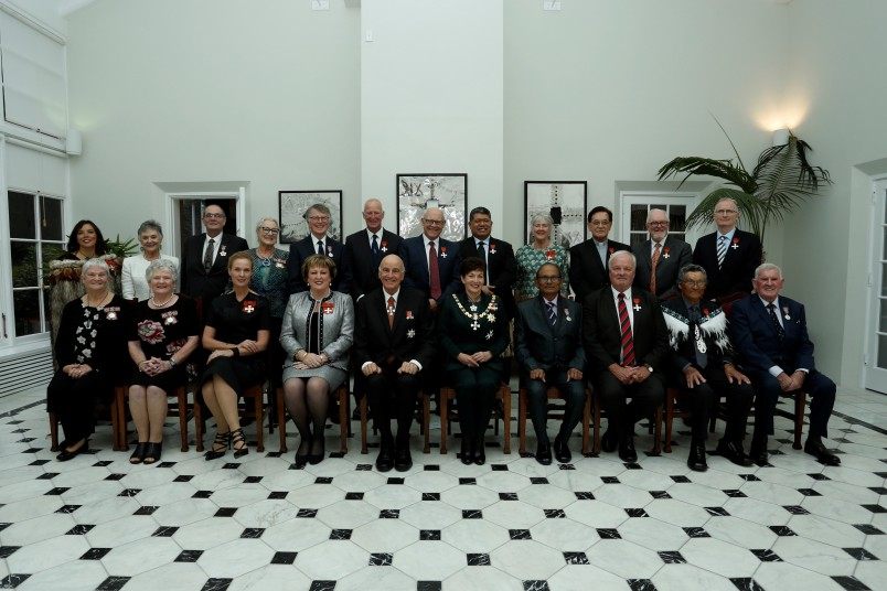 an image of Their Excellencies with Honours recipients