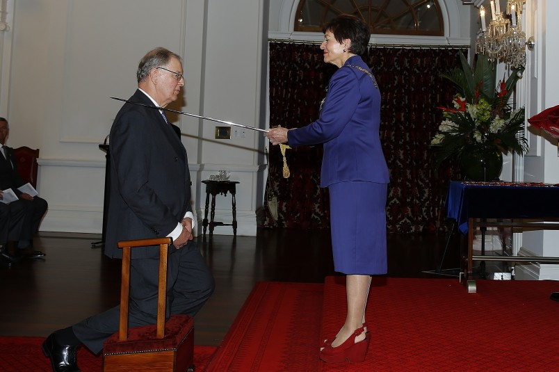 an image of The Hon Sir Douglas White, KNZM for services to the judiciary