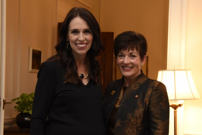an image of Dame Patsy and the Prime Minister, Rt Hon Jacinda Adern
