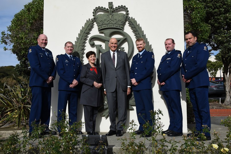 an image of Dame Patsy with Wing 316 instructors