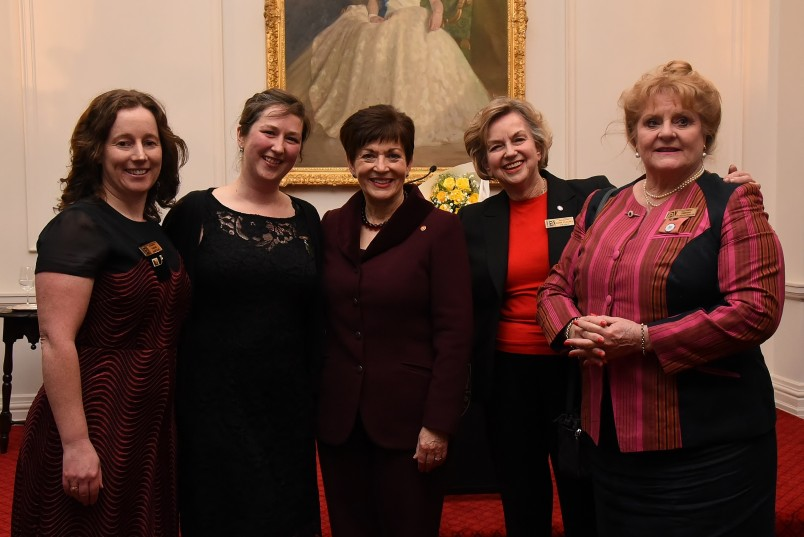 an image of Dame Patsy with Sarah Barclay, Dr Jessie Prebble, Dame Claudia Orange and Christine Stonyer
