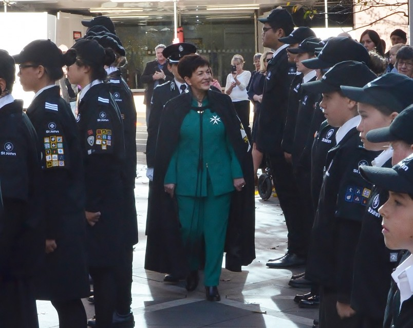 an image of Dame Patsy and St John cadets