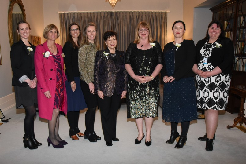 an image of Dame Patsy and the Westpac team