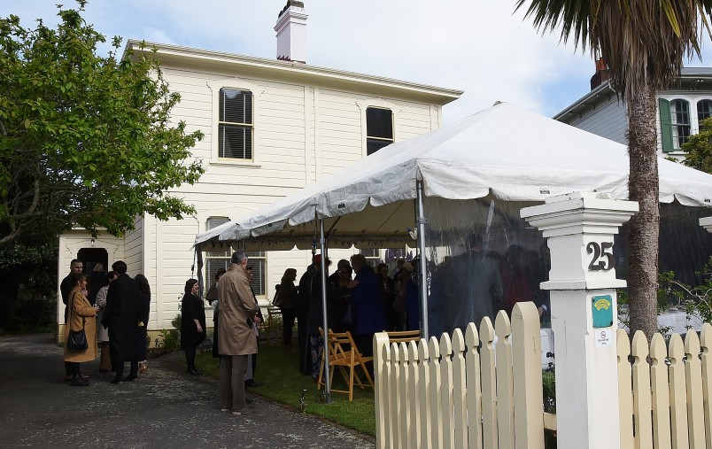 Image of the tent at the Katherine Mansfield House and Garden