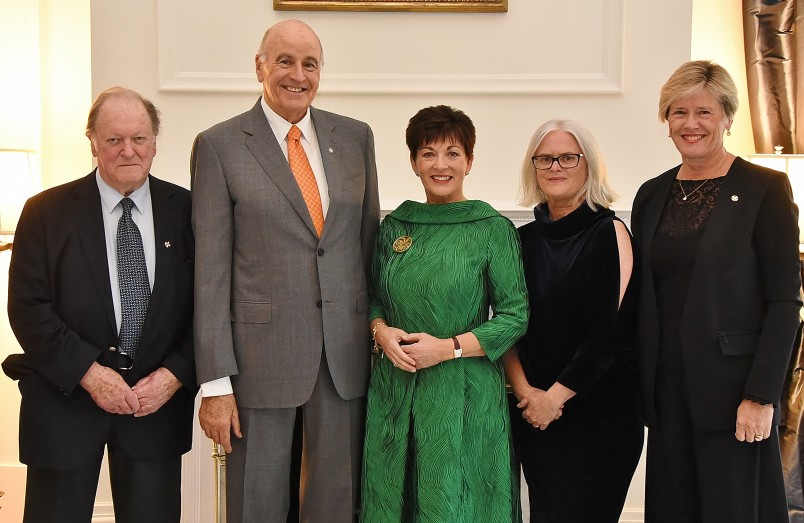 Image of Dame Patsy and Sir David with Bill Sheat, Annabelle Sheehan and Kerry Prendergast