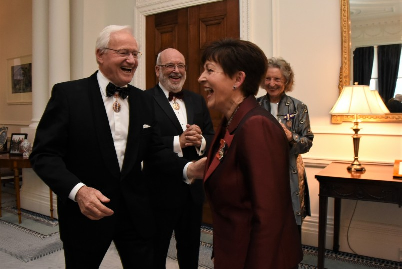 an image of Dame Patsy with Jim Bolger, ONZ and Sir Peter Gluckman, ONZ