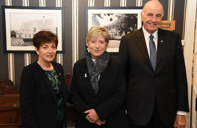 Image of Dame Patsy, Sir David and Mayor of Christchurch, Lianne Dalziell