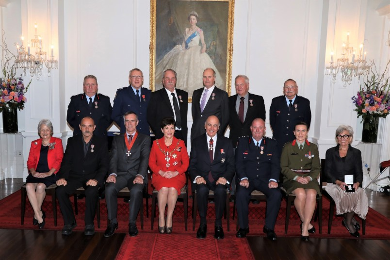 Dame Patsy and Sir David with recipients