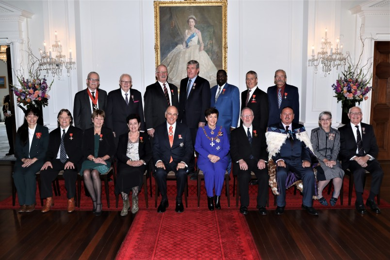 Their Excellencies with the Honours recipients