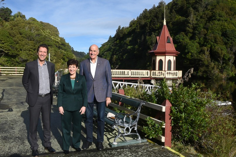 Image of Dame Patsy and Sir David with Zealandia Chief Executive Paul Atkins