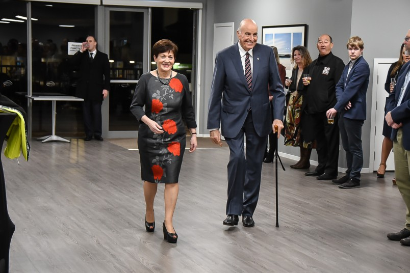 Image of Dame Patsy and Sir David arriving for the community stakeholders reception