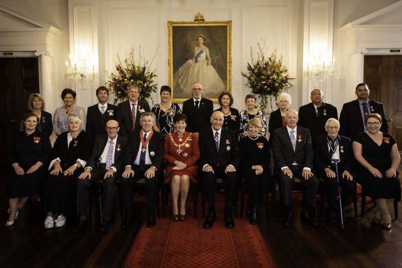 Image of Dame Patsy and Sir David with all the recipients