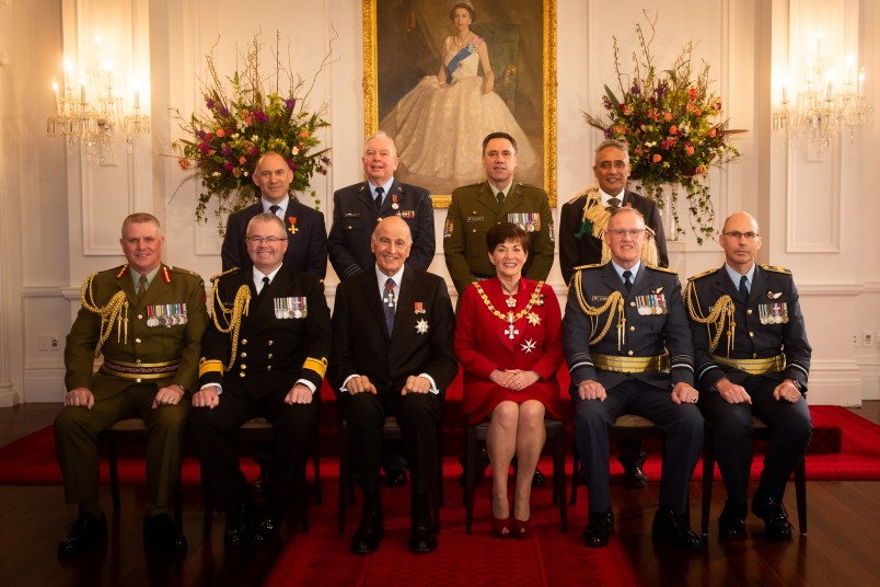 Their Excellencies with Defence Chiefs of Staff and Defence honour recipients