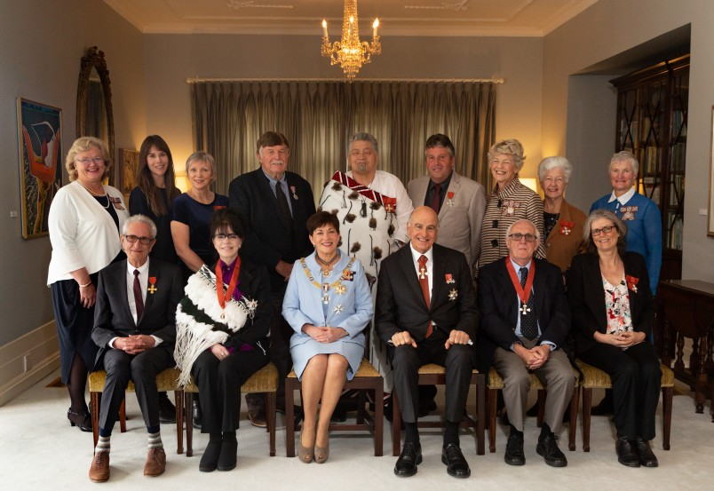 Their Excellencies with the recipients of the investiture on the morning of 3 September, 2019