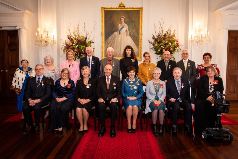 Image of Dame Patsy, Sir David and the recipients