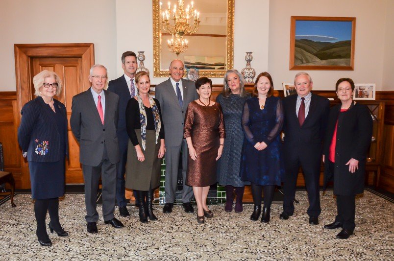 Image of Dame Patsy and Sir David with members of the board and staff