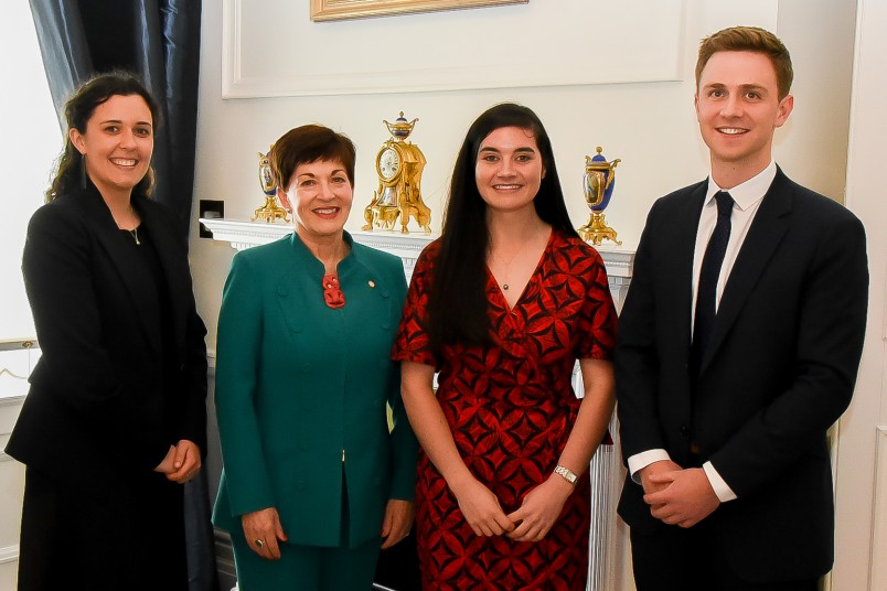 Image of Dame Patsy and the 2020 Rhodes scholars