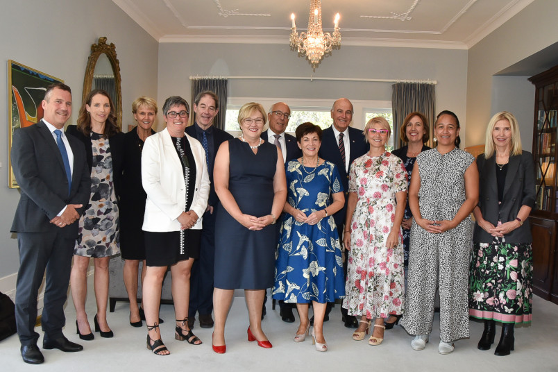 Their Excellencies with guests at the lunch for the Aotearoa Circle