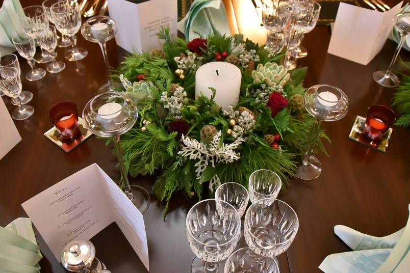 Image of table setting at the judges dinner