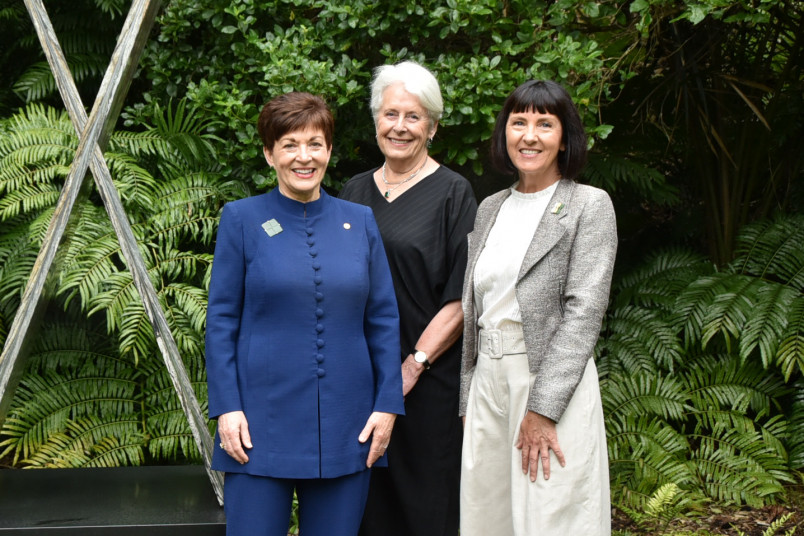Dame Patsy Reddy, Dame Silvia Cartwright and Gill Gatfield