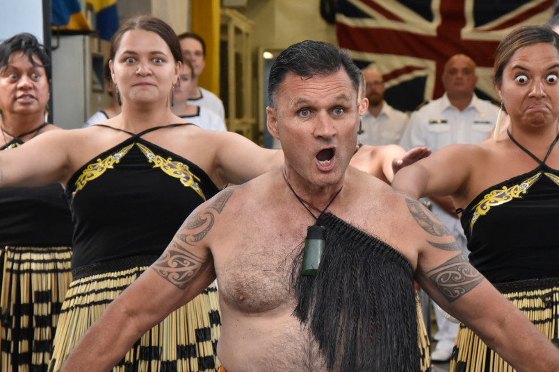 A group performs kapa haka