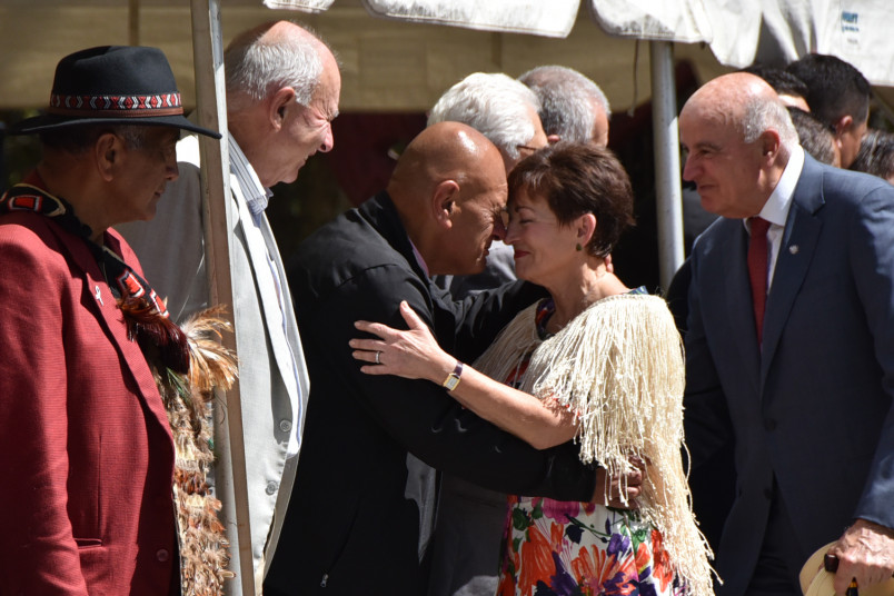 Dame Patsy Reddy and Waihoroi Shortland