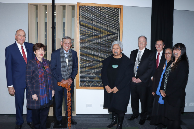 The official party at the opening of the Waikato Regional Council's premises