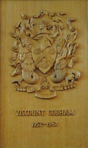 Viscount Cobham's carved panel