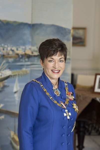 Image of Dame Patsy Reddy in the Blundell Room at Government House in Wellington