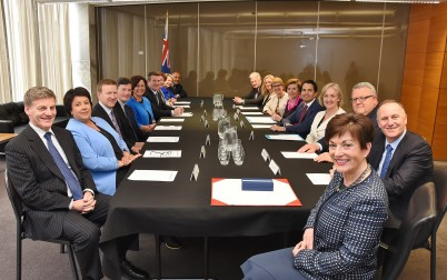 Image of Dame Patsy Reddy attending her first Executive Council meeting at Parliament