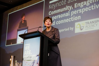 An image of Dame Patsy Reddy speaking at the LGNZ Conference 2017