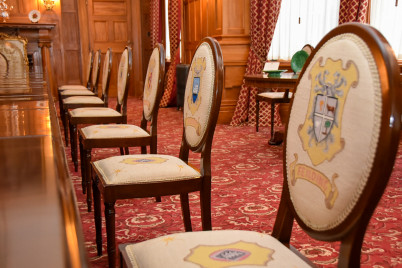Needlepoint chairs Government House Wellington