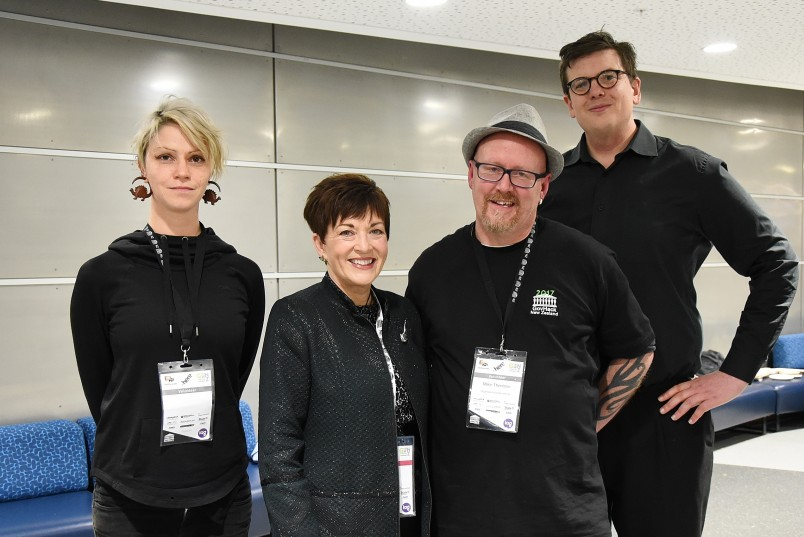 An image of Dame Patsy with the organisers of GovHack