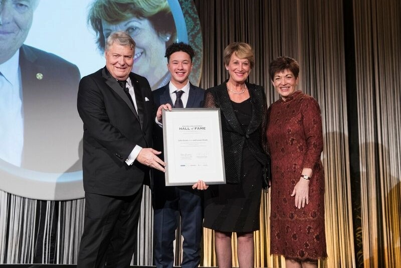 An image of Dame Patsy and laureates John and Leonie Hynds