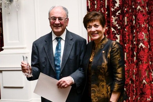An image of Mr Steven Sedley with Dame Patsy