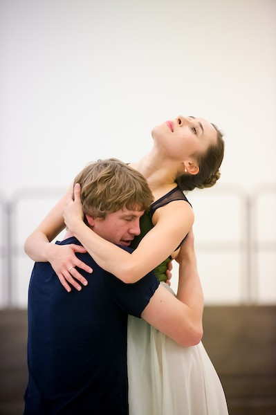 Image of RNZB dancers rehearsing