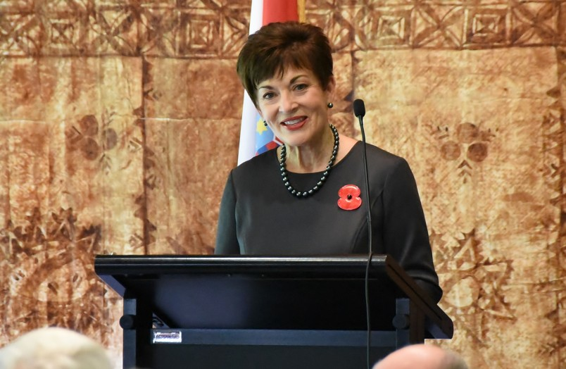 Image of Dame Patsy speaking at the luncheon for the President of Croatia
