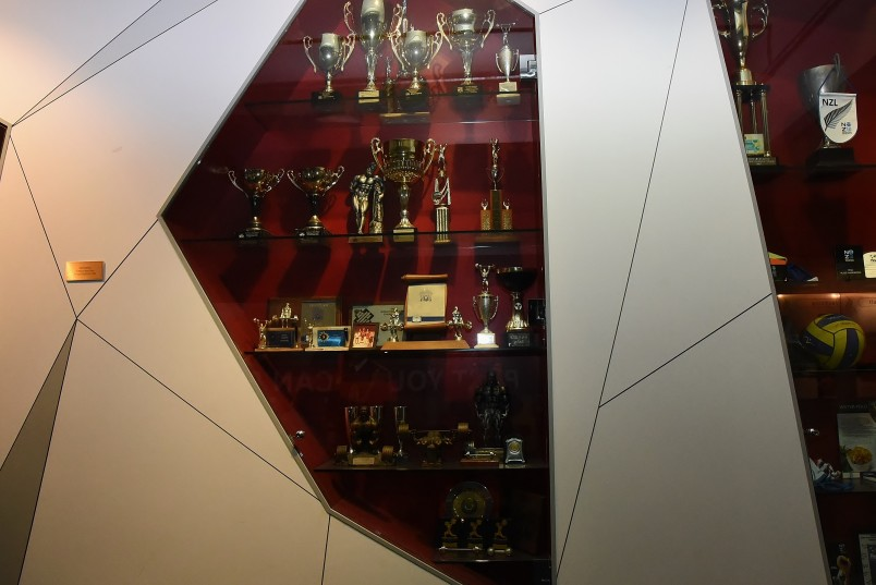 An image of Trophies won by champion weightlifter Precious McKenzie