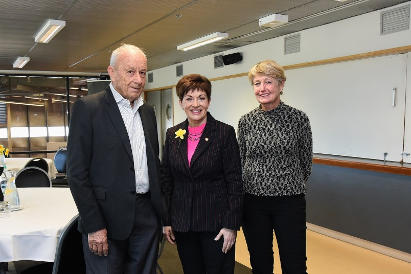 Dame Patsy with Dave Norris and Lee Norris