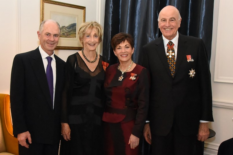 Image of Frances Wilson-Fitzgerald, ONZM and Stephen Fitzgerald