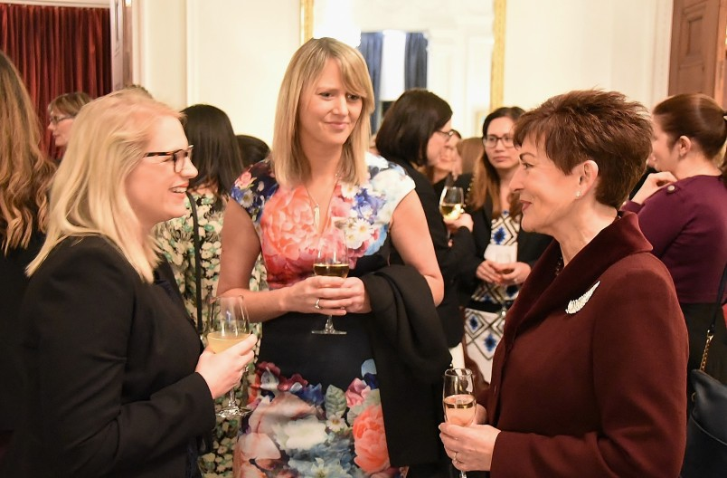 Image of guests at the reception following the Women in Law forum