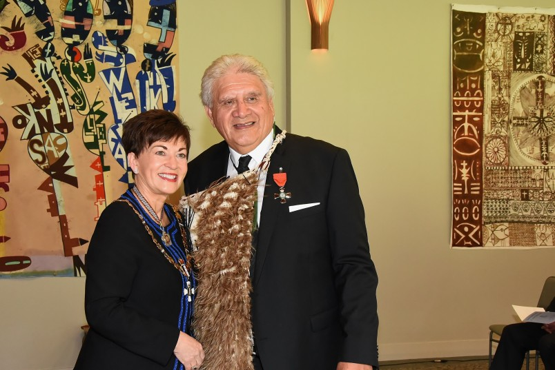 An image of Dame Patsy and Mr Pembroke (Pem) Bird, of Murupara, MNZM for services to education and Māori
