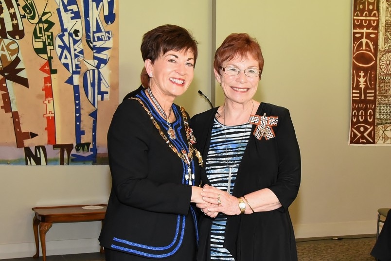 An image of Dame Patsy and Mrs Sandra Hunter, of Matamata, QSM for services to the community