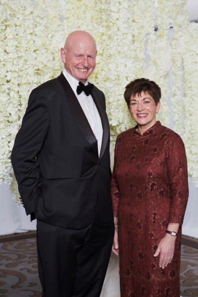 An image of Dame Patsy with Sir Graeme Harrison