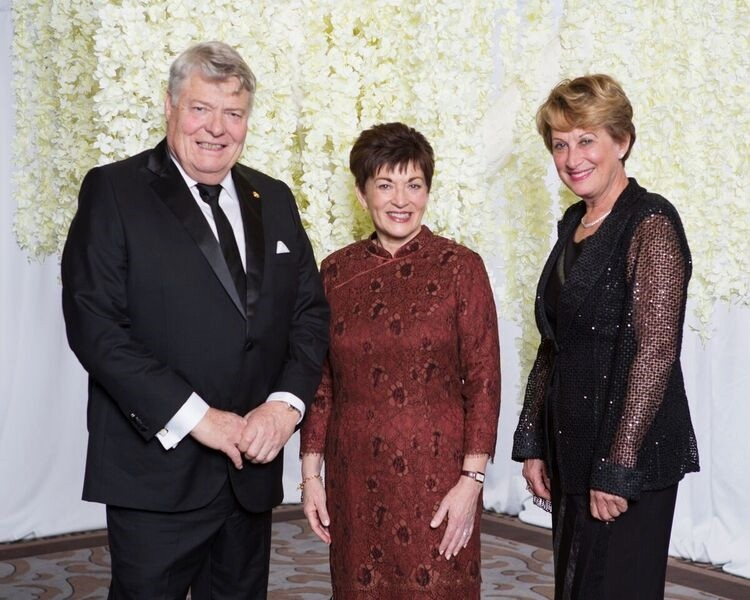 And image of Dame Patsy with John and Leonie Hynds