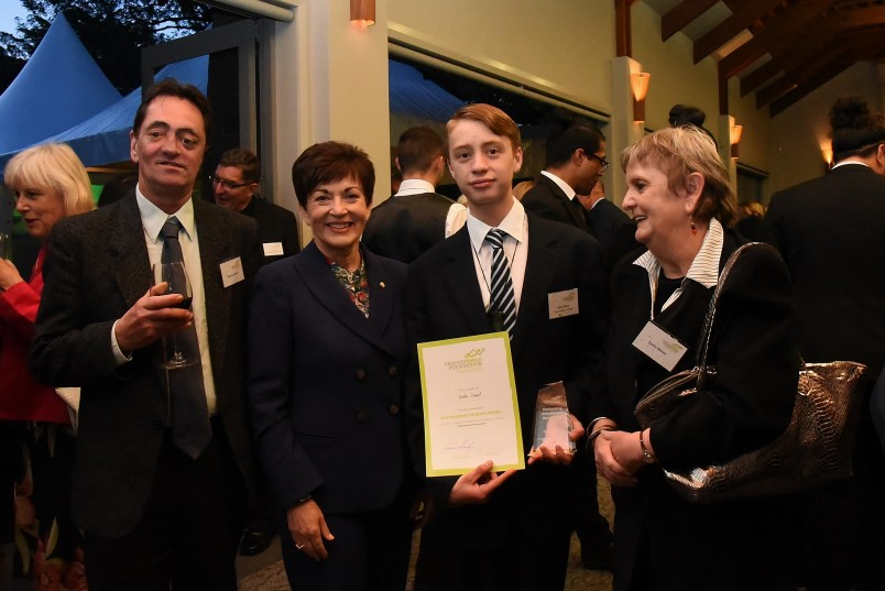 an image of Dame Patsy with Kaha Head, Career Navigator Outstanding Student